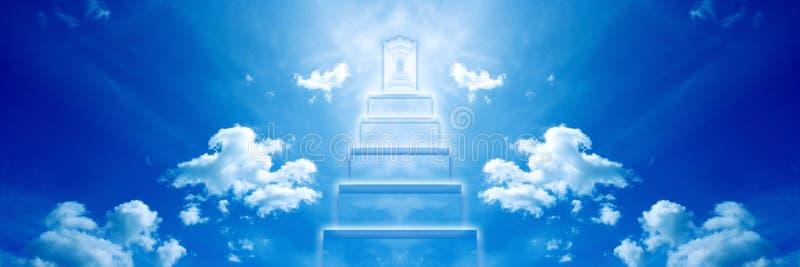 Porta celestial ilustração stock