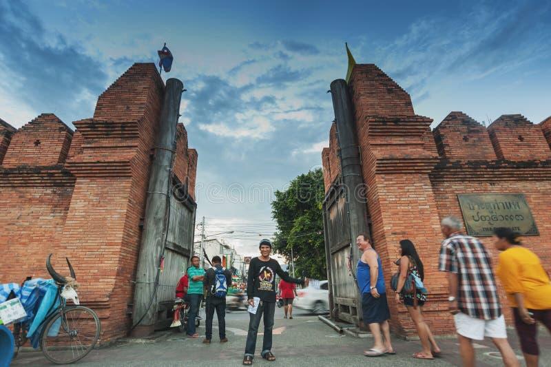 Porta Chiang Mai de Tha-Phae fotografia de stock