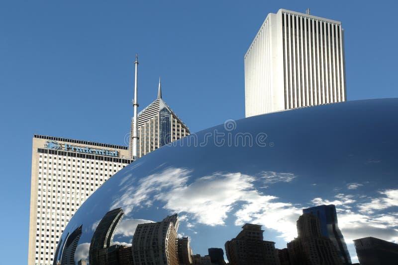 PORTA CHICAGO DA NUVEM foto de stock
