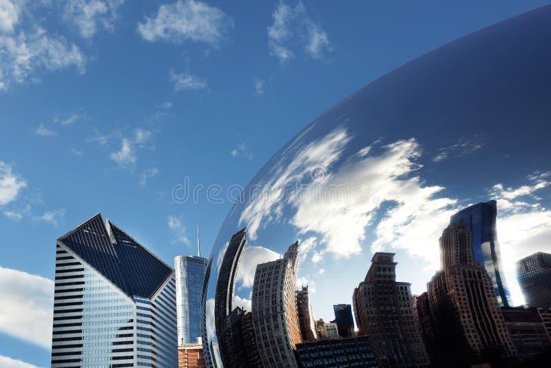 PORTA CHICAGO DA NUVEM imagem de stock royalty free