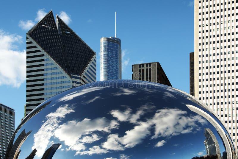 PORTA CHICAGO DA NUVEM fotos de stock