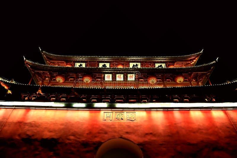 Porta chinesa da cidade antiga imagens de stock