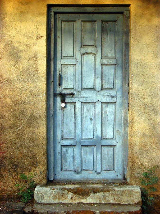 A porta chiusa fotografia stock