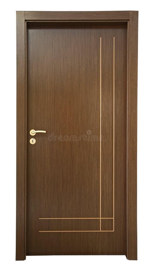 Porta clássica nova de madeira imagens de stock