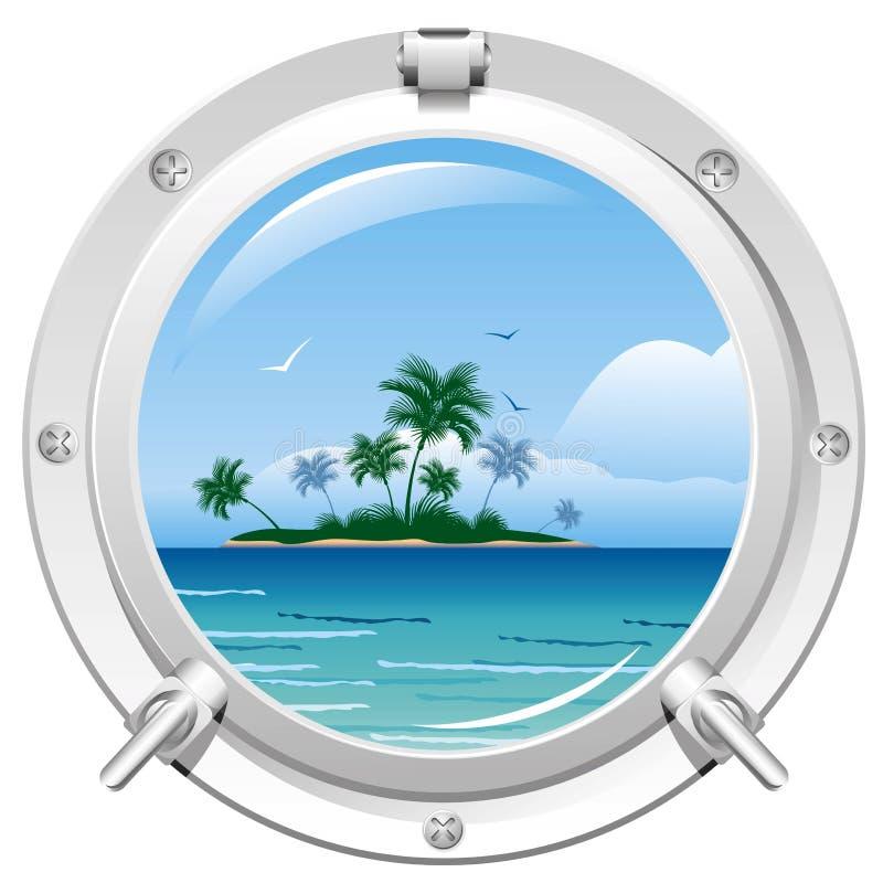 Porta con la opinión del mar libre illustration