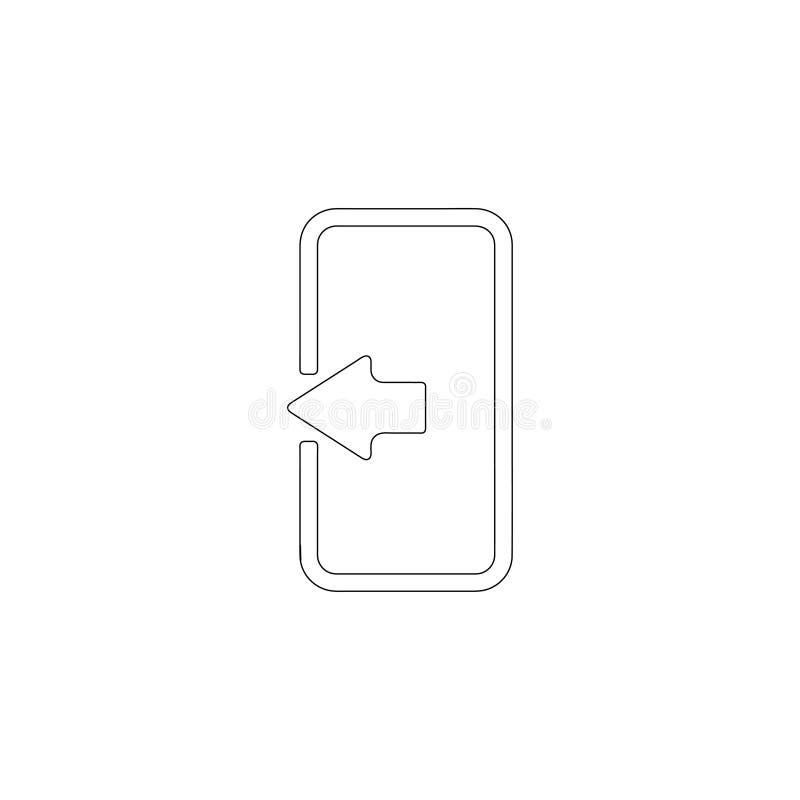 Porta ?cone liso do vetor ilustração stock