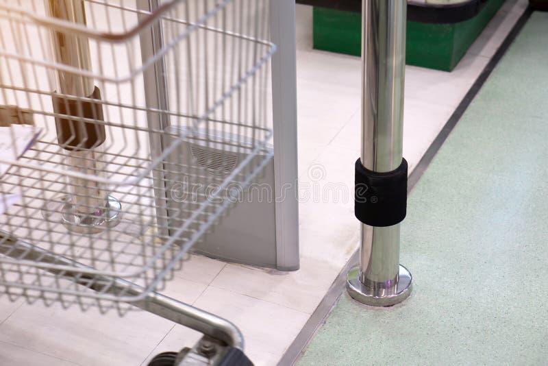A porta contra-roubo da entrada do varredor do dispositivo para impede o roubo no sup imagens de stock