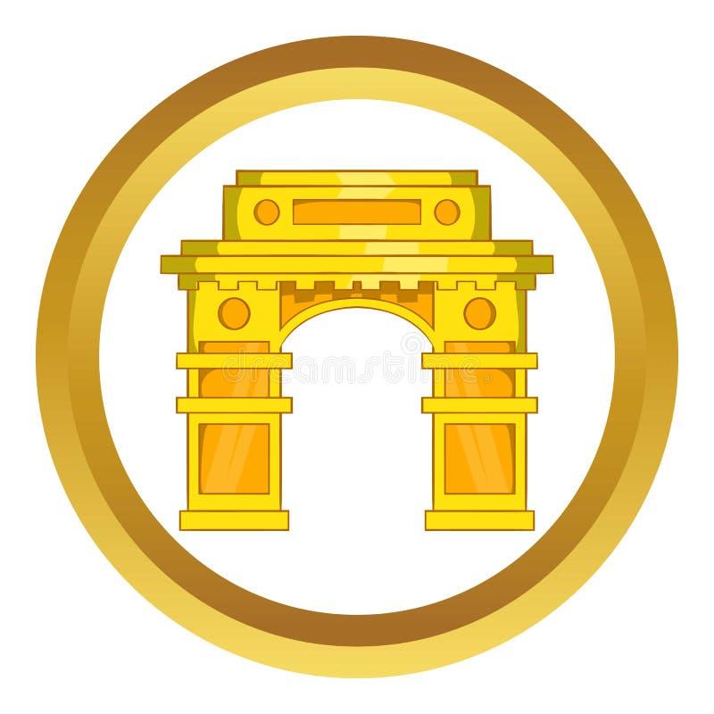 Porta da Índia, ícone do vetor de Nova Deli ilustração do vetor
