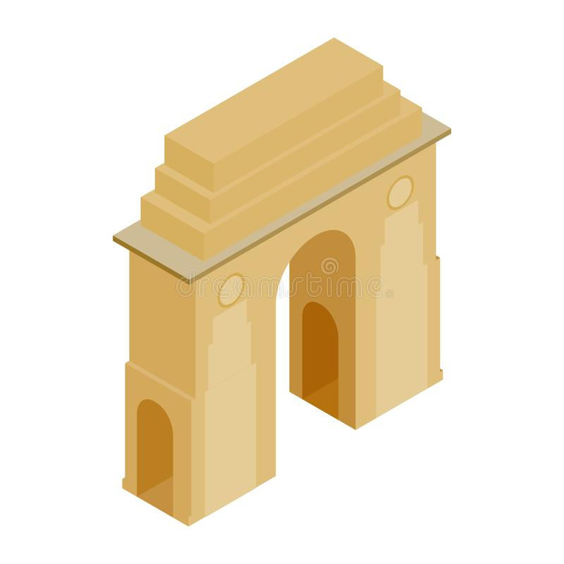 Porta da Índia, Nova Deli, ícone da Índia ilustração stock
