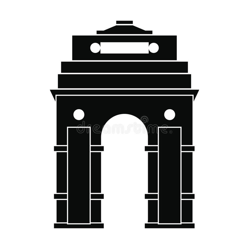 Porta da Índia, Nova Deli, ícone da Índia, estilo simples ilustração stock