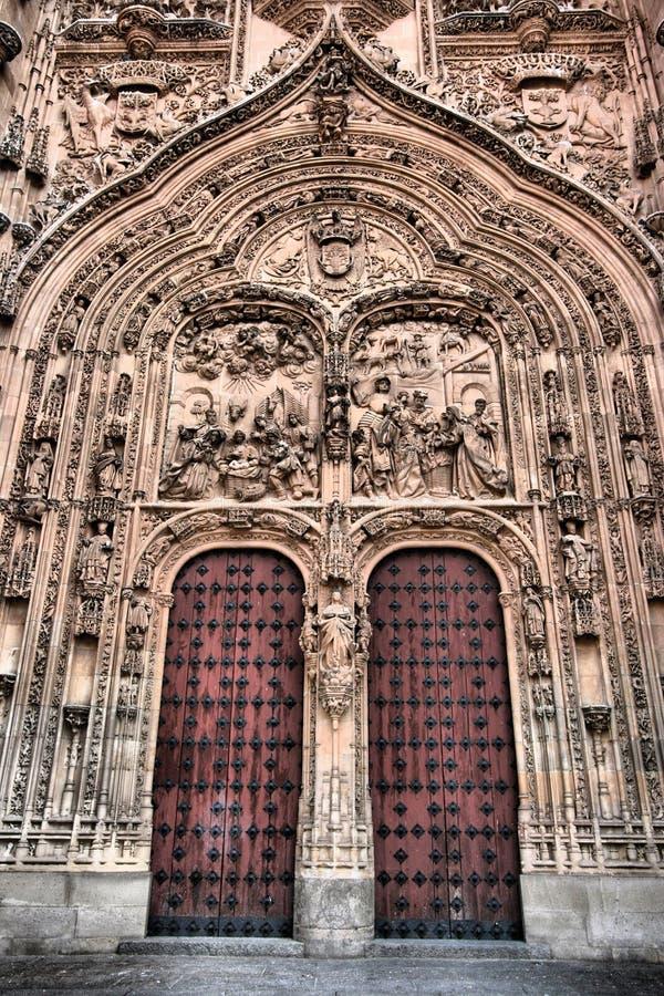 Porta da catedral em Salamanca foto de stock royalty free