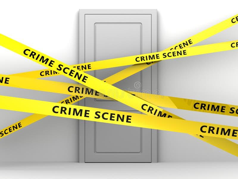 Porta da cena do crime ilustração do vetor