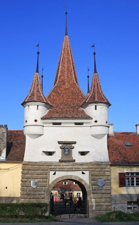 Porta da cidade de Brasov fotos de stock royalty free
