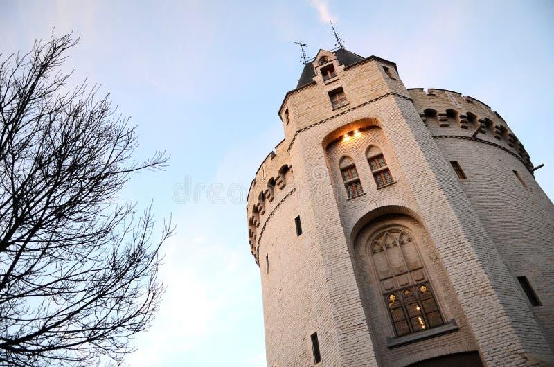 Porta da cidade de Bruxelas Halle Gate (lado de Saint-Gilles) foto de stock royalty free