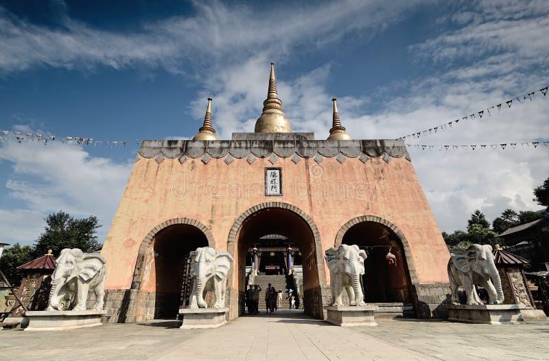 Porta da cidade de Dali Yunnan-Film e da televisão foto de stock