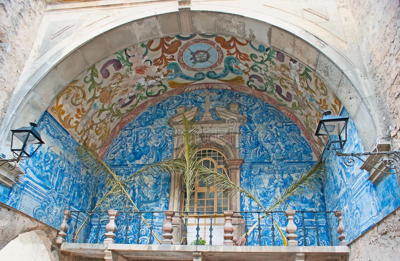 A porta da cidade de Obidos fotos de stock royalty free