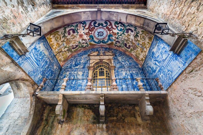 Porta da cidade de Obidos, Portugal fotografia de stock royalty free