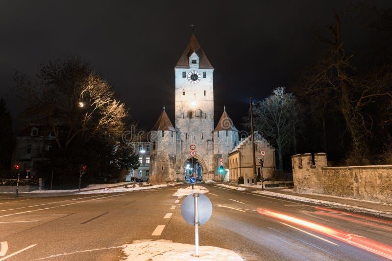Porta da cidade de Ostentor em Regensburg, Alemanha imagem de stock royalty free