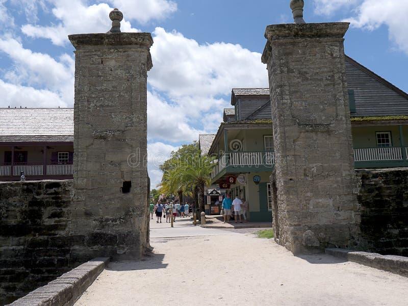 Porta da cidade em St Augustine Florida EUA imagens de stock royalty free