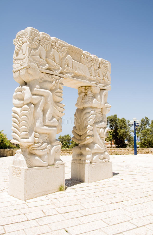Porta da fé no parque máximo Jaffa Telavive Israel imagem de stock royalty free