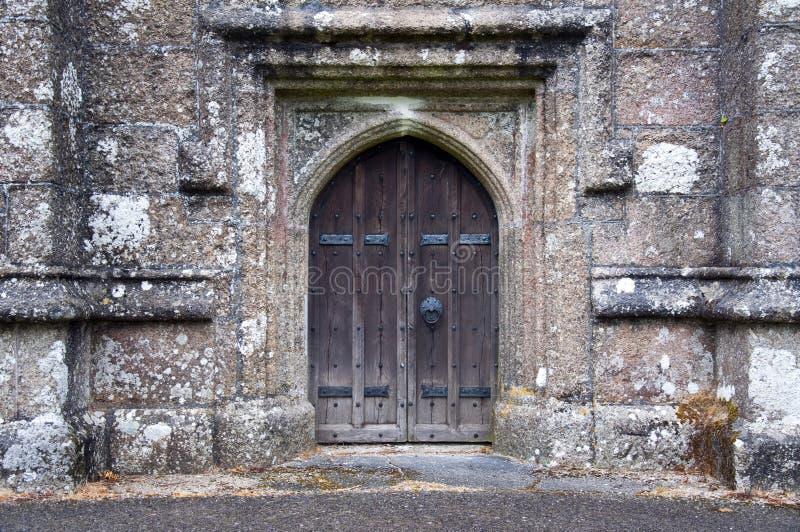 Porta da igreja foto de stock