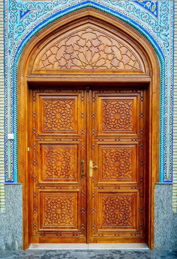 Porta da mesquita imagem de stock