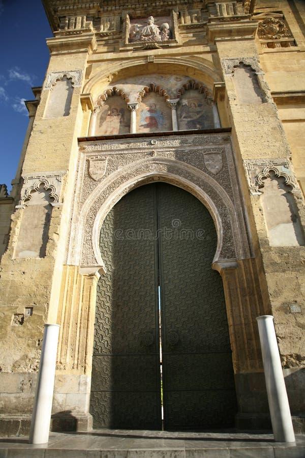 Porta da mesquita de Córdova grande imagens de stock royalty free