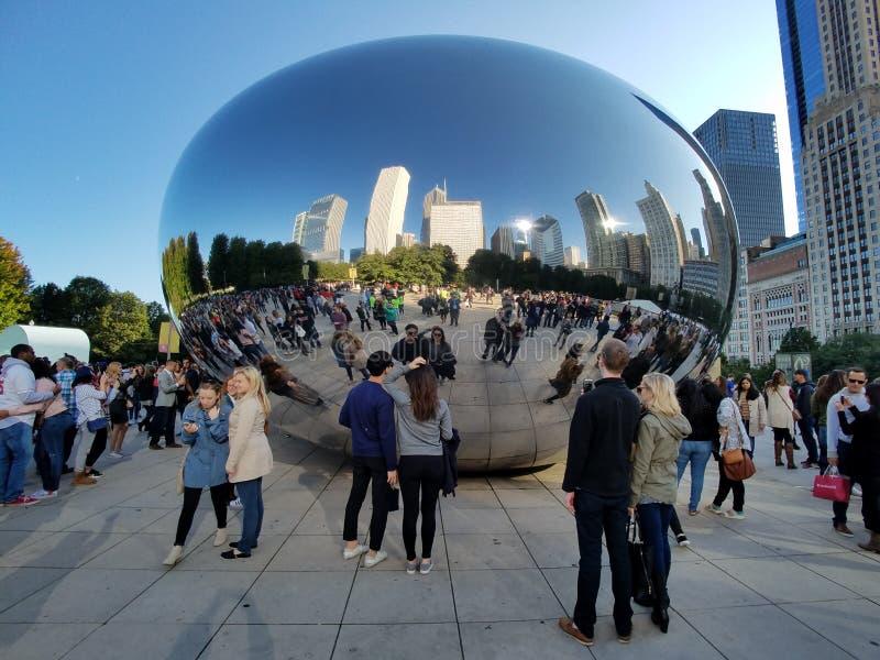 Porta da nuvem, Chicago fotos de stock