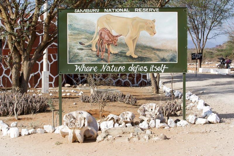 A porta da reserva nacional de Samburu foto de stock royalty free