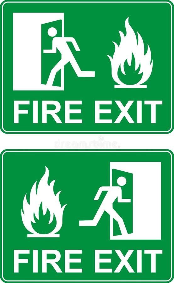Porta da saída de emergência da emergência ilustração royalty free