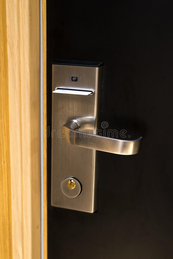 Porta da sala de hotel foto de stock