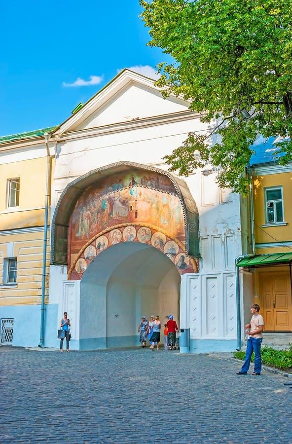 Porta da suposição de St Sergius Holy Trinity Lavra imagens de stock