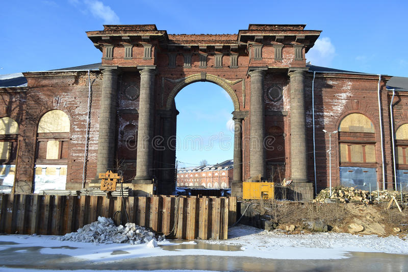 Porta de água da ilha nova da Holanda no inverno foto de stock royalty free