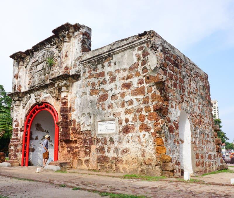 Porta de Сантьяго в Малакке стоковая фотография