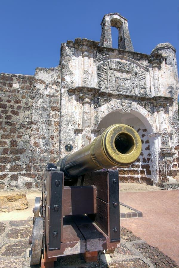 Porta de Сантьяго, Famosa, Малакка стоковое фото