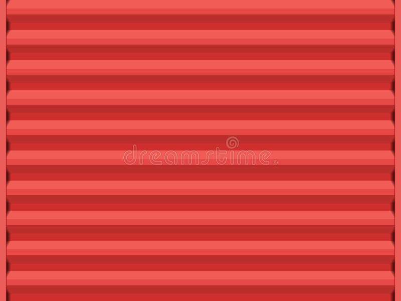 Porta de aço vermelha ilustração stock