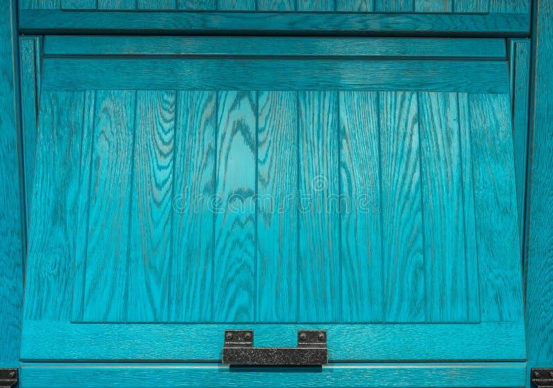 Porta de armário dianteira do quadro de madeira da cozinha foto de stock