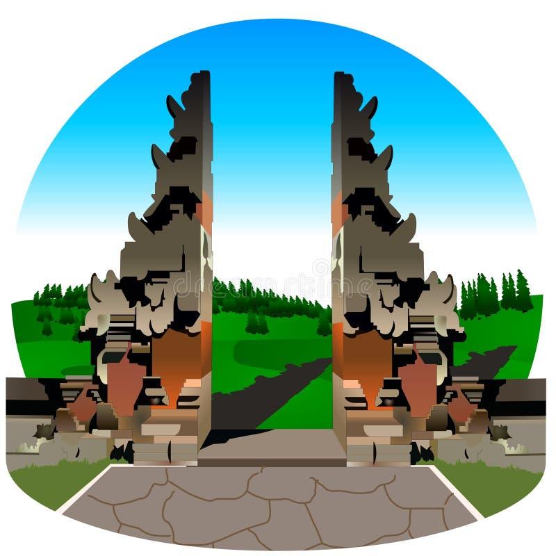 Porta de Bali ilustração do vetor