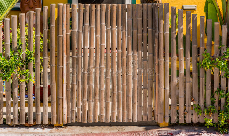 Porta de bambu imagens de stock