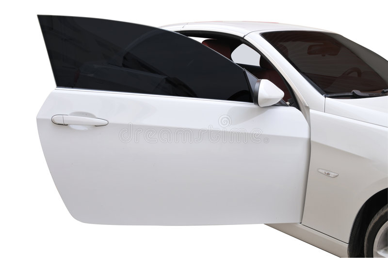Porta de BMW 335i aberta fotografia de stock royalty free