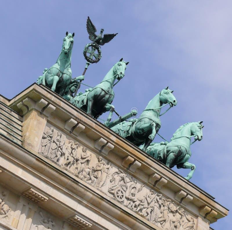 Download Porta de Brandebourg foto de stock. Imagem de chariot - 12808848