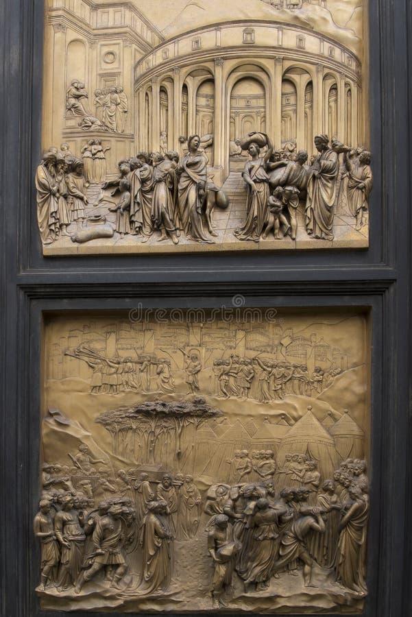 Porta de bronze Florença fotos de stock