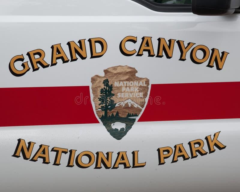 Porta de carro das guardas florestais em Grand Canyon foto de stock royalty free