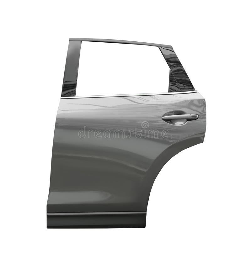 Porta de carro moderna nova no branco imagens de stock