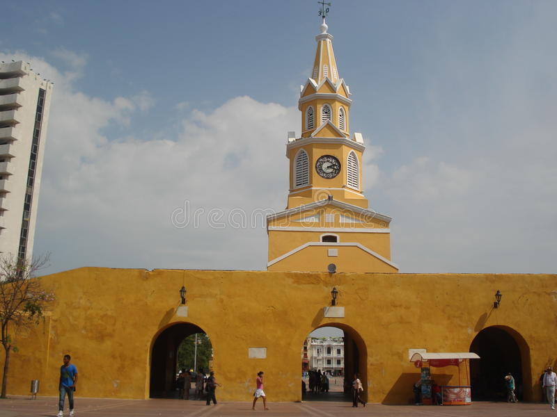 Porta de Cartagena velho fotos de stock
