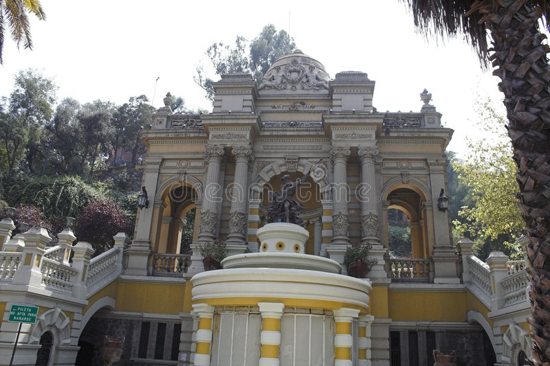 Porta de Cerro de Santa Lucia imagens de stock