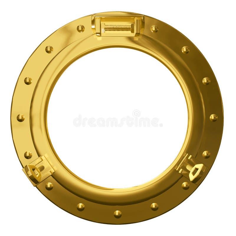Porta de cobre amarillo aislada ilustración del vector