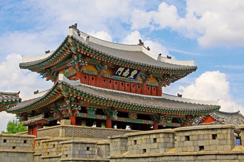 Porta de Coreia Jeonju Pungnammun imagem de stock