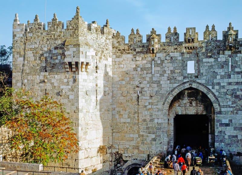 Porta de Damasco, Jerusalem imagens de stock