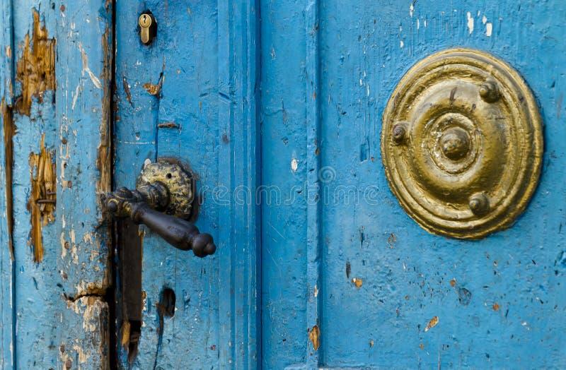 Porta de Demaged fotografia de stock